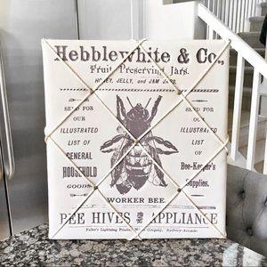 Other - Rustic Bumble Bee Print Memo Board Photo